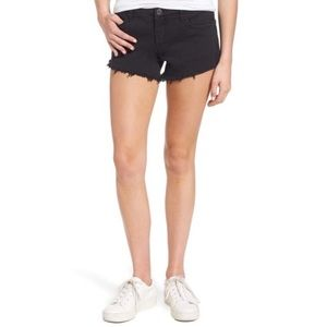 Blank NYC Pucker Up Black Denim Cutoff Shorts